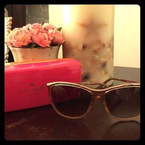 Kate spade rose gold sunglasses